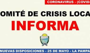 COMUNICADO DEL COMITÉ DE CRISIS LOCAL DE 25 DE MAYO- 02 DE AGOSTO DE 2020.