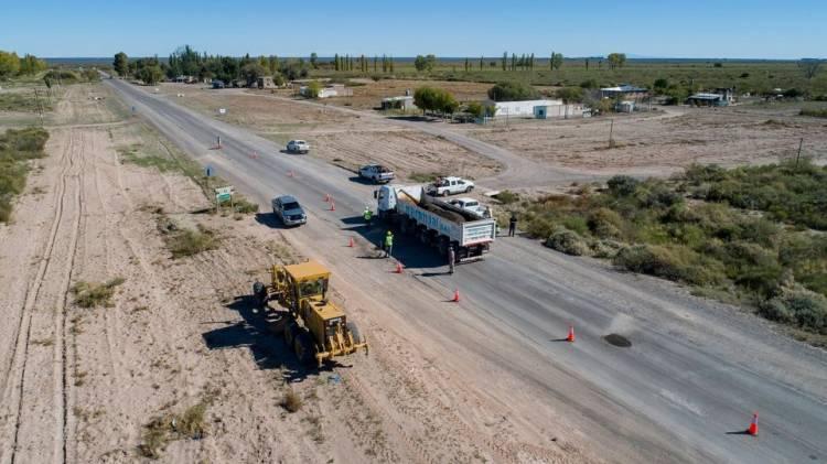 Se reactivó la obra en la ruta nacional 151